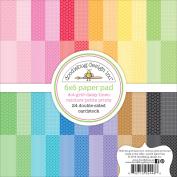 Doodlebug Paper Pad 6x6 Gingham Linen Dot Grid