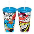 SUPERMAN COMIC TUM W/ STRAW