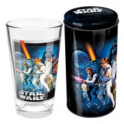 STAR WARS GROUP GLASS IN TIN