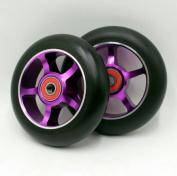 2 wheels . Freestyle stunt scooter wheels / roller skis wheels 100mm88A - Purple