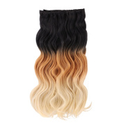 MIMAN 50cm 8Pcs #1B/27/613 Natural Black To Caramel Blonde To Bleach Blonde Full Head Wavy Clip In Hair Extensions Synthetic Fibre HairPiece