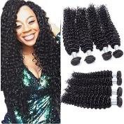 7A Virgin Hair Deep Curly Wave 4 Bundles/Lot, Remy Brazilian Hair Sexy Deep Curly Weave Human Hair Extensions Natural Colour 24 26 28 28