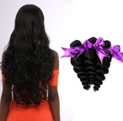 Missexy 7A Unprocessed Brazilian Hair Loose Wave Weave 3 Bundles Soft Brazilian Virgin Human Hair Bundle Deals can be Dyed and Bleached