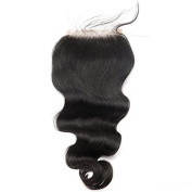 ZM Hair 4x 4 Free Part Body Wave Top Closure Natural Black Virgin Human Hair Lace Closure