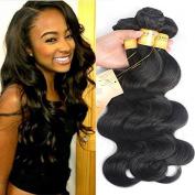 Black Rose Brazilian Virgin Hair Body Wave bundles 50g/bundle 100% Unprocessed Virgin Human Hair Extension Hair Weave Weft Natural Colour Grade 7a