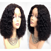 Curly Lace Front Short Human Hair Wig with Baby Hair Brazilian Curly Bob Human Hair Lace Front Wigs
