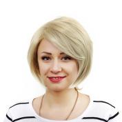 Short Straight Hair Wig Blonde Short Straight Hair Wig Heat Resistant Cosplay Straight Hair Tail for Women