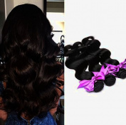 Unprocessed Peruvian Virgin Hair Body Wave 3 Bundles Human Hair Weaves Good Quality Double Weft No Tangle No Shedding Sew in Black Hair