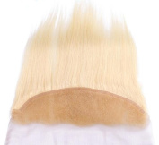 Romantic Angels 10''~20'' Remy Brazilian Hair Straight Free Part Lace Closure (13''x4'') Blonde #613 (10''