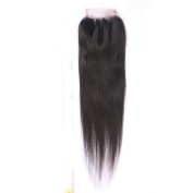 Esth Hair 3 Part Silky Straight 4x 4 Lace Frontal Best Brazilian Remy Human Hair Closure Piece With Baby Hair