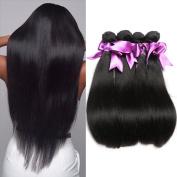 Missexy Brazilian Straight Hair Weaves 4 Bundles 7a 100% Unprocessed Virgin Human Hair Weaves Soft Hair Bundle Deals Total 400g a Pack . 8 10 12 36cm )