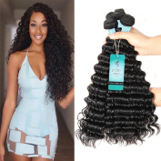 UDU Virgin Hair Brazilian Deep Wave 4 Bundles 100% Unprocessed Curly Human Hair Bundles 7a Virgin Hair Bundle Deals 100g/bundle Natural Colour