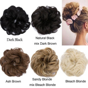 Hair Scrunchies Scrunchy Hair Bun Up Do Hair piece Ribbon Ponytail Hair Extensions Wavy Curly or Messy Verious Colours
