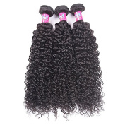 Unprocessed Brazilian Curly Virgin Hair 3 Bundles 100g/pc Nature Colour Curly Weave Human Hair Extensions