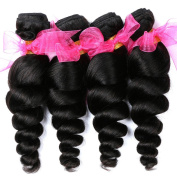 Virgin Malaysian Hair Extensions 100% Unprocessed Loose Wave Hair Bundles Natural Colour (18 20 22 60cm ) 400g / Lot
