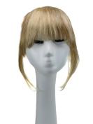 SinoArt Human Hair Front Clip-in Hair Bangs Full Fringe Short Straight Brazilian Virgin Human Hair Hairpieces Extensions for Women 15cm - 20cm