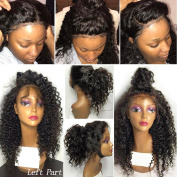 CLbuxi Hair Lace Front Human Hair Wigs for Black Women Brazilian Virgin Hair Wigs Curly Hair Glueless Full Lace Human Hair Wigs Lace Front Wigs with Baby Hair