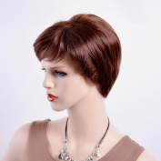 BYmei fashion brown natural curly hair short curly hair sexy wigs for women nature looking for heat-resistant fibre hair