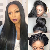 Brazilian Virgin Hair Fashion Silky Remy Straight Hair Wigs Human Hair Wigs Lace Front Wigs With Baby Hair 180% Density