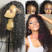 Brazilian Full Lace Wig With Baby Hair Lace Front Human Hair Wigs for Black Women Deep Curly Wave Brazilian Virgin Hair Wigs Full Lace Human Hair Wigs with Baby Hair 180% Density