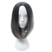 sunshine Susie Short Wig 30cm Ombre Colour Women's Straight Synthetic Wigs with Free Wig Cap