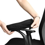 Aloudy Ergonomic Momery Foam Chair Armrest Pad, Comfy Office Chair Arm Rest Cover for Elbows and Forearms Pressure Relief