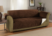 GPD Heavy-Weight Luxury Textured Microsuede Pebbles Furniture Protector and Slipcover with Anti-slip Non-slip Backing ---Water-repellant - Sofa Chocolate