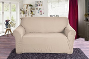 Elegant Comfort Collection Luxury Soft Furniture Jersey STRETCH SLIPCOVER, Sofa Linen
