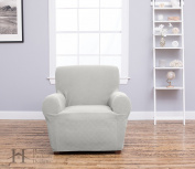 Cambria Collection Deluxe Strapless Slipcover. Form Fit, Slip Resistant, Stylish Furniture Shield / Protector Featuring Plush, Heavyweight Fabric. By Home Fashion Designs Brand.