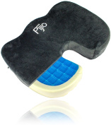 Flash Sale! Pijio Coccyx Orthopaedic Comfort Gel Memory Foam Seat Cushion - Water Proof Cove Included Free - Relieves Sciatica, Back Pain, Tailbones, Spine, Hips