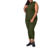 Under Control Women's Plus Active Sleeveless Hoodie Set
