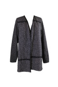 Charter Club Plus Size Black Combo Open-Front Sweater Cardigan 2X