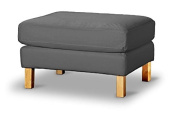 The Heavy Cotton Karlstad FootStool Cover Replacement Is Custom Made for Ikea Karlstad Ottoman, A Sofa Ottoman Slipcover Replacement