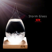 GR Creative Stylish Desktop Drops Storm Glass of 17th Century Europe Weather Monitors Weather Forecast Weather Station