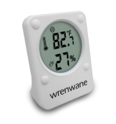 Wrenwane Hygrometer Humidity Sensor Indoor Room Thermometer Fahrenheit Or Celsius White