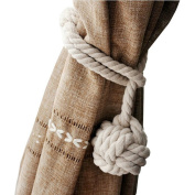 NUOLUX Hand Knitting Curtain Rope Curtain Tie Backs