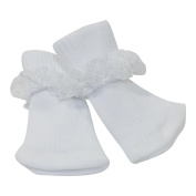 Arianna White Lace Ankle Sock Fits 46cm Dolls