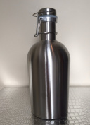 2L / 1890ml Stainless Steel Growler with Flip Top