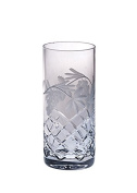 Barski - Hand Cut - Mouth Blown - Crystal - Hiball Tumbler - With Grapevine Design - Set of 4 - 410ml - Made in Europe
