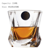 Crystal Glass Whiskey Cups Wine Glasses Bar Tools Glassware Beer Glasses 210 ML-A9
