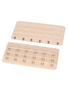 Woman 3 Rows 6 Hooks Brassiere Bra Extension Strap Extender Incarnadine 2pcs