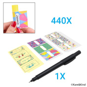 Labels for Lip Balm Tubes /Value Pack of 440 Stickers (or Other Purposes) - 240 Writable Stickers and 200 Printed Stickers - Self Adhesive Easy Peel