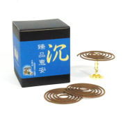 ZenPin Hoi-An Agarwood Aloeswood Incense Coils 48pcs 3.5hrs with Incense Clip