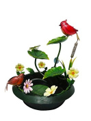 Continental Art Centre 43cm x 43cm X21.13cm painted metal fountain set-cardinal