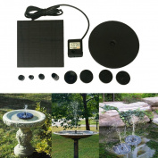 Inverlee Floating Microfountain Solar Powered Pond Garden Water Pump Fountain Kit Bird Bath Fish Tank