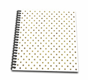 3dRose Print of Gold Bling Polka Dots - Memory Book, 30cm by 30cm