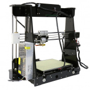 3D Printer, LESHP High Precision Desktop Prusa i3 3D Printer with All Metal MK8 Extruder Nozzle Dual Air Vents, Acrylic Frame LCD Screen 220*220*240mm Personal DIY 3D Printing Printer Machine, with Detailed Video with 8GB SD Card Support ABS/PLA/HIP/PP ..