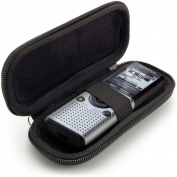 iGadgitz Black EVA Carrying Hard Case Cover for Olympus DS-40, LS-P1 LS-P2, VN-3100 541PC 702PC 7100 721 722 741, WS-821 831 Digital Voice Recorders