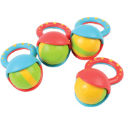 Constructive Playthings Roller Ball Rattles Set of 4