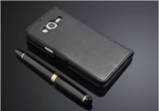 Black Leather Case for Samsung Galaxy